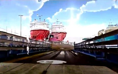 3D scan of NorthLink vessel in Aberdeen