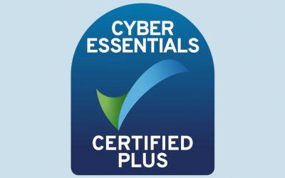 Cyber Essentials Plus Certified!